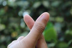 Marcas del amor con los fingeres imagen de archivo libre de regalías