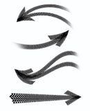 Marcas del neumático de las flechas Imágenes de archivo libres de regalías