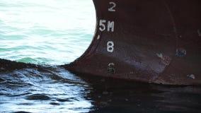 Marcas del proyecto de la nave Barco en acceso metrajes