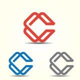 Marcas do logotipo da letra para a letra C Fotos de Stock Royalty Free