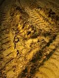 Marcas do passo do pneu Fotos de Stock