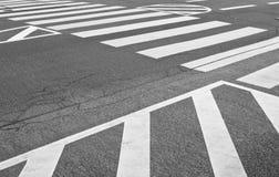 Marcas do tráfego de estrada Foto de Stock