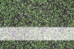 Marcas en césped de los deportes Foto de archivo