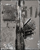 Marcas rasguñadas de la superficie de metal Fotografía de archivo libre de regalías
