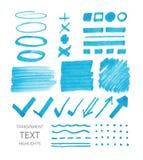Marcas transparentes del highlighter libre illustration