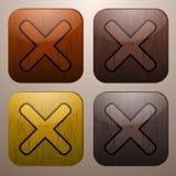 Marcas transversais de madeira Ilustração do Vetor