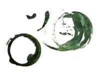 Marcas verdes de la taza Imágenes de archivo libres de regalías