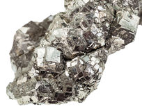 Marcasite white iron pyrite close up isolated Stock Photography