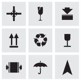 Marcatura di vettore delle icone del carico messe Fotografia Stock Libera da Diritti