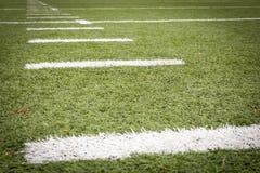 Marcature del campo di football americano immagini stock