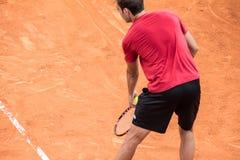 Marcel Granollers jouant le tennis Photographie stock libre de droits