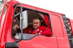 Marcel Huigevoort στο φορτηγό του Ντακάρ του Στοκ φωτογραφία με δικαίωμα ελεύθερης χρήσης