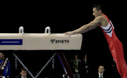 Marcel Nguyen. Germany's Marcel Nguyen during a qualifying competition for the 2012 Olympic games in London England Royalty Free Stock Image
