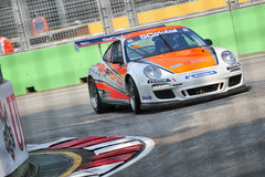 Marcel racing at Porsche Carrera Cup Asia Stock Images