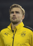 Marcel Schmelzer. Football players pictured during UEFA Europa League round of 16 game between Tottenham Hotspur and Borussia Dortmund on March 17, 2016 at White stock photos