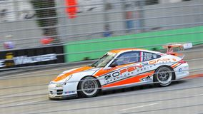 Marcel Tjia racing at Porsche Carrera Cup Asia Stock Images