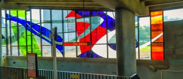 Marcelle Ferron witrażu okno (1968) Obraz Stock