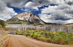 Marcellina Mountain, Colorado, USA. Kebler Pass and Marcellina Mountain view, Crested Butte, Colorado, USA royalty free stock images