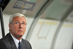 Marcello Lippi, Italiaanse CT Royalty-vrije Stock Foto