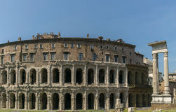marcellus rome theatre Royaltyfri Foto