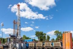 Marcellus Shale Drilling Construction Site fotos de archivo