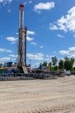 Marcellus Shale Drilling Rig fotos de archivo