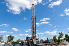 Marcellus Shale Gas Construction Site royaltyfria foton
