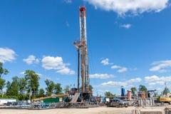 Marcellus Shale Gas Site fotografia stock libera da diritti