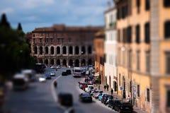 Marcellus teatr był wielkim i nakładającego najwięcej teatru antyczny Rzym obrazy stock