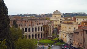 Marcellus Theater en Roma almacen de metraje de vídeo