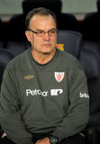 Marcelo Bielsa of Athletic Bilbao Stock Images