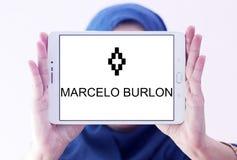 Marcelo Burlon fashion brand logo royalty free stock images