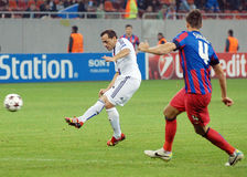 Marcelo Diaz scores during Champions League game Stock Photo