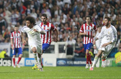 Marcelo and Sergio Ramos Final  Champion League 2014 Royalty Free Stock Photography