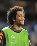 Marcelo Vieira of Real Madrid smiling before Champions League match Royalty Free Stock Image