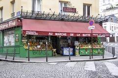 Marché de la Butte - Paris Royalty Free Stock Photos