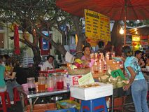 Marché à Bangkok Photographie stock