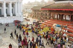 Marché à Katmandou, Népal Image stock