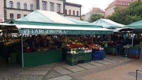 Marché à Poznan Photo libre de droits