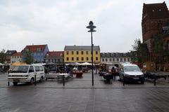 Marché à Roskilde, Danemark image stock