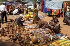Marché africain Image stock