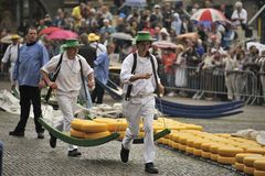 Marché Alkmaar de fromage Photographie stock