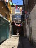 Marché anglais, un marché municipal de nourriture du centre du liège, attraction touristique célèbre de la ville : entrée latéral photo libre de droits