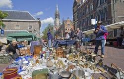 Marché antique à Delft photo libre de droits