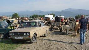 Marché aux bestiaux, Kabali, la Géorgie, l'Europe Photographie stock libre de droits