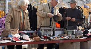Marché aux puces à Vilnius Images libres de droits