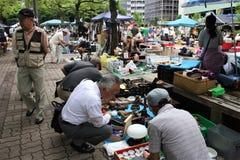 Marché aux puces au Japon Photographie stock libre de droits