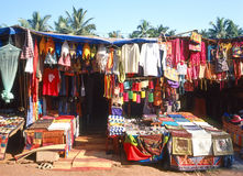 Marché aux puces dans Goa Images libres de droits