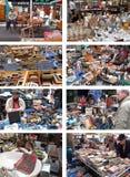 Marché aux puces de Porta Portese à Rome, Italie Photos stock