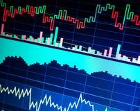 Marché boursier et autre thèmes de finances Concept de données de finances commerce photo stock